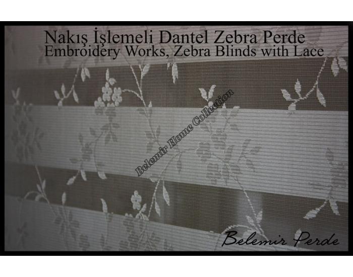 Dantel Zebra Perde 73